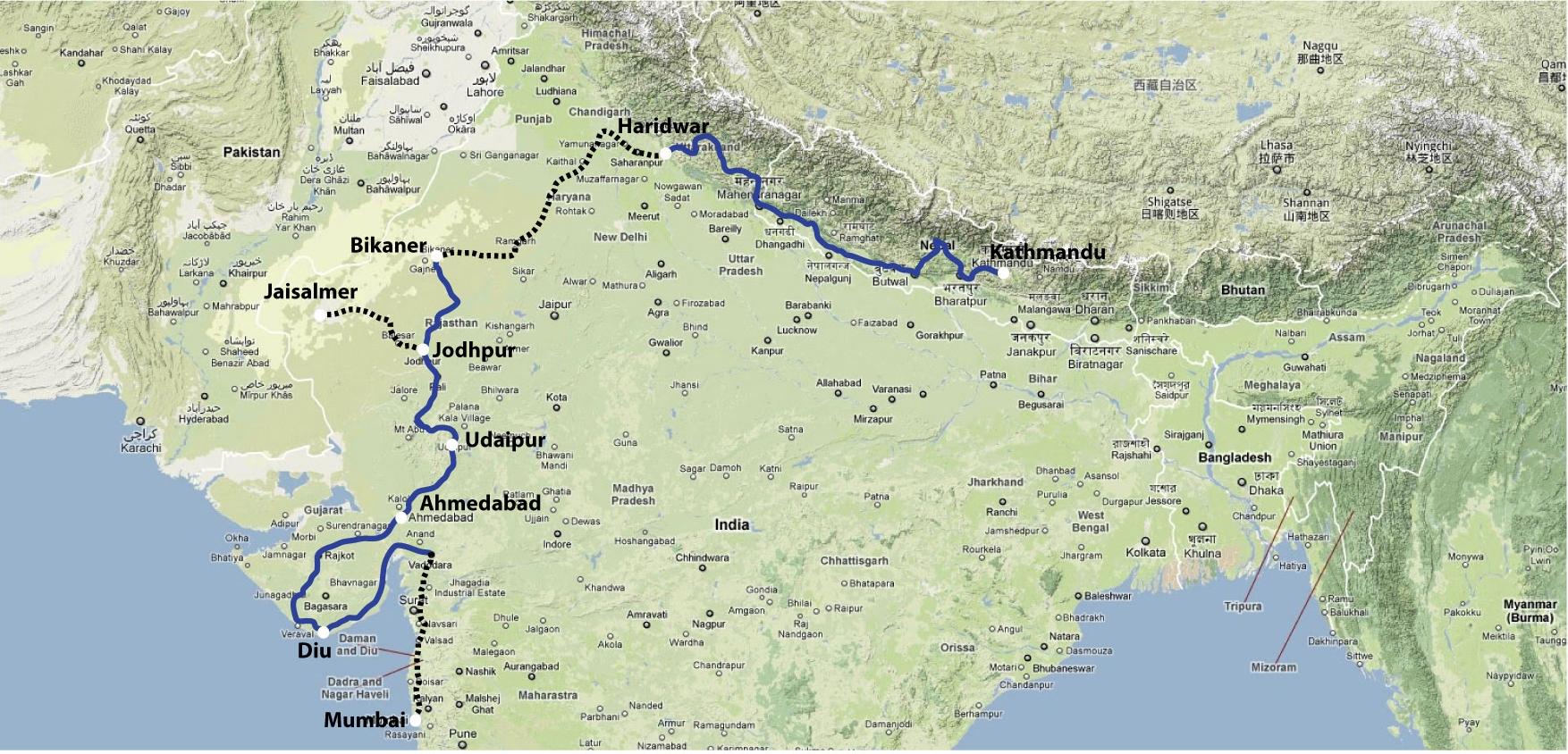 Ganges Plain Location Depsang Plains ~ Elsavadorla